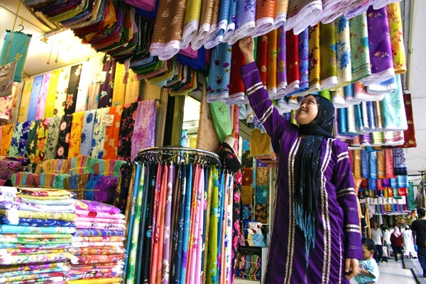 Muslim friendly textile shopping experience in KL Malaysia