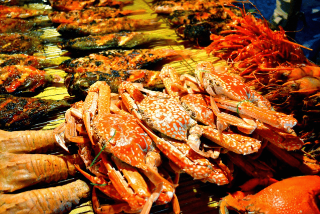 Delicious halal seafood in Malaysia