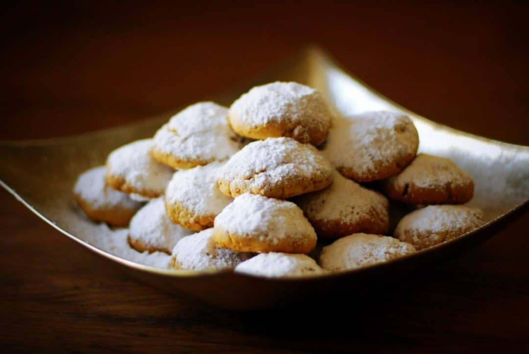 traditional halal dish for eid from egypt kahk cookies