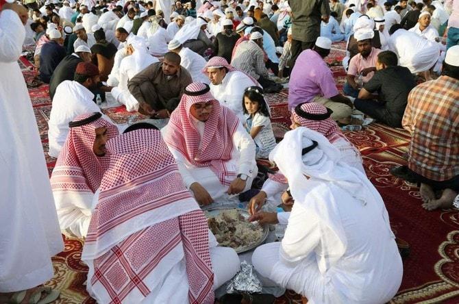 muslims in makkah celebrating eid
