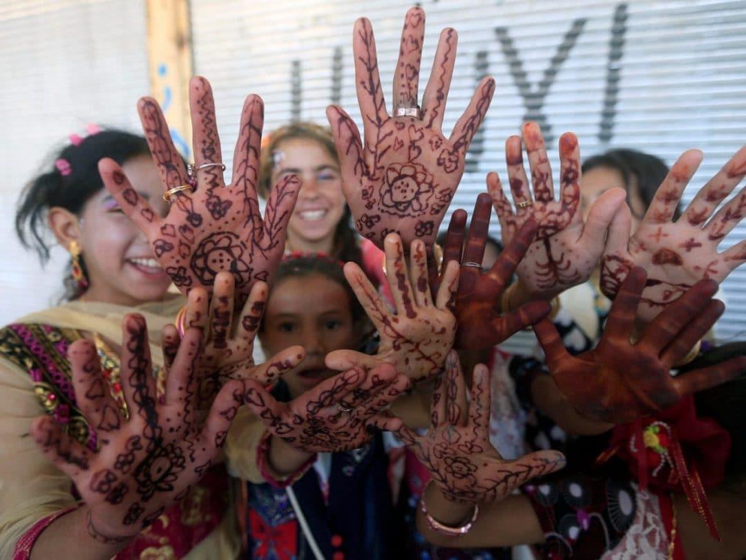 celebrating eid around the world traditional henna