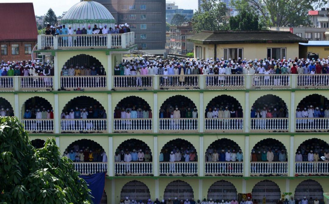 muslims celebrating eid around the world in kathmandu nepal