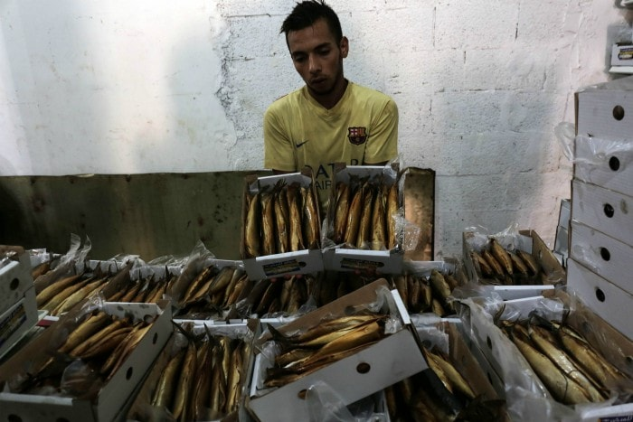 halal traditional dish for eid from palestine smoked mackerel