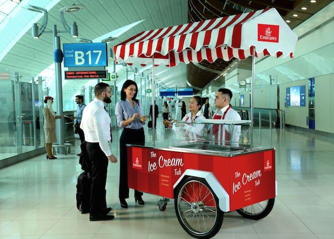emirates free ice creams cart 2018