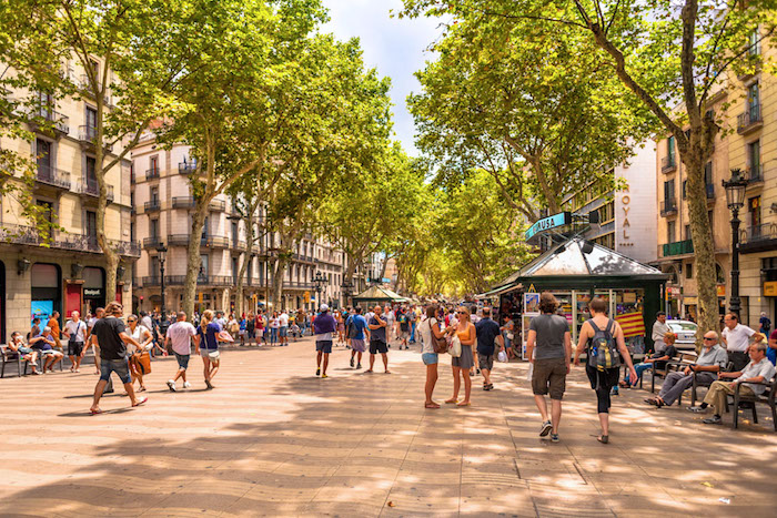 La Rambla street - Barcelona