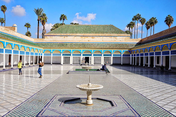 Muslim friendly places in Marrakech Bahia palace