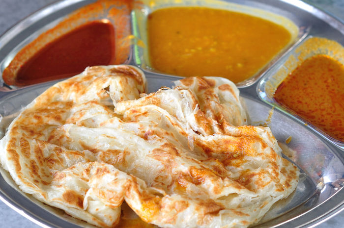 Halal local food in Malaysia - Roti Canai