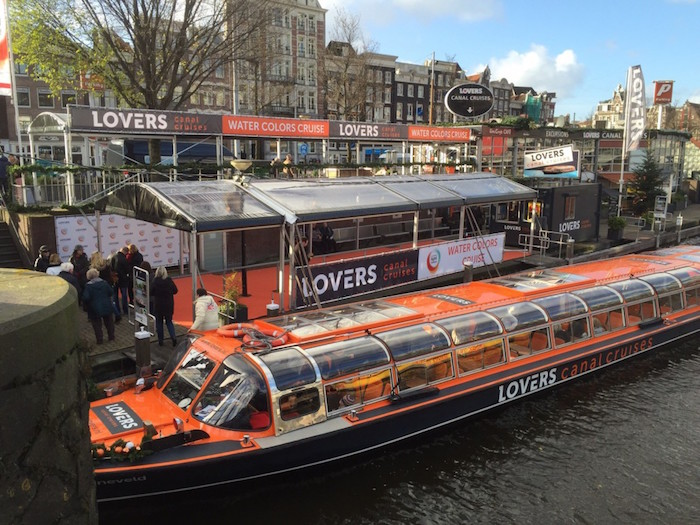 Lovers canal cruise dock in Amsterdam
